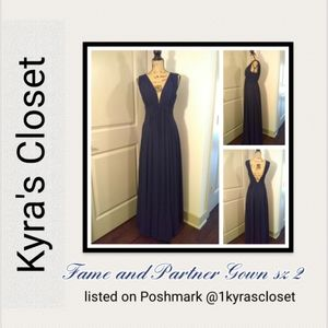 Fame and Partner Gown sz 2 blue NWT